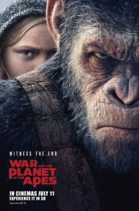 War for the Planet of the Apes 2017 film poster