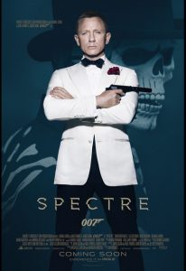 Spectre film poster - Daniel Craig's fourth James Bond film