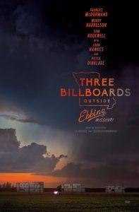 Three Billboards outside Ebbing, Missouri. Film Poster 2017